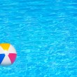 Inflatable ball in swimming pool — Stock Photo #76231957