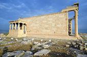 Erechtheum temple, Parthenon of Acropolis in Athens — Stock Photo