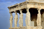 Caryatides at Acropolis of Athens — Stock Photo