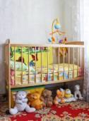 Baby crib — Stock Photo
