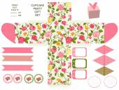 Cottage chic party set — Vector de stock