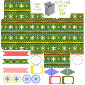 Christmas Gift box template — Stock Vector