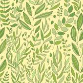Plants seamless background — Stock Vector