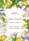 Watercolor floral card template — Stockfoto