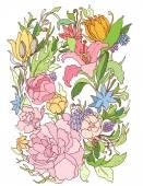 Floral ornate pattern — Cтоковый вектор