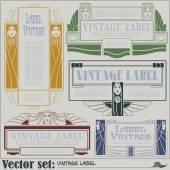 Border style labels on different topics — Stok Vektör