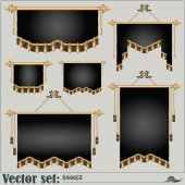 Vector set. banners of different shapes and sizes — Stock Vector