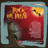 Vector background on a theme of Halloween — Stock Vector