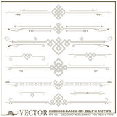 Vector decorative elements based on Celtic patterns — Stock Vector