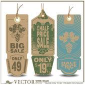Vector label - sale wine — Stock Vector
