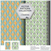 Vector pattern that includes swatches from of shells and plants — Stock Vector