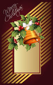 Vector background with antique scroll for Christmas and New year — Stockvektor