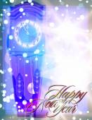 Мector abstract background with clock for Christmas and New Year — Wektor stockowy