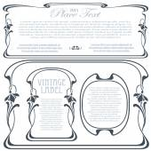 Vector decorative frame from bound plants and flowers — Vettoriale Stock