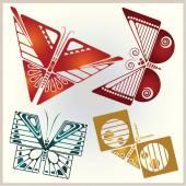 Vector set butterflies for design invitations, advertisements, g — Stock Vector