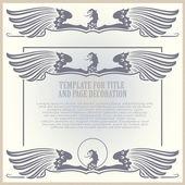 Stamp eagle for registration of your work. — Stockvector
