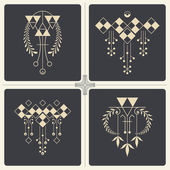 Vector abstract ornaments for design of printed and web products — Stock Vector