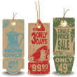 Vector set. Beverage tags with a message about the sale — Stock Vector #78344458