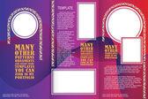 ロマンチックなスタイルでベクトル テンプレート小冊子 — ストックベクタ