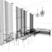 Modern interiör av vardagsrum — Stockfoto