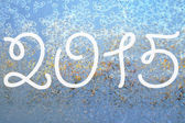2015 on the frozen surface — Foto Stock