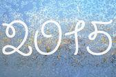 2015 on the frozen surface — Stockfoto