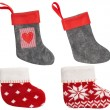 Christmas Stocking, Red Sock Hanging Isolated On White Backgroun — Stock Photo #57639419