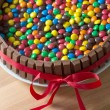 Chocolate candy cake — Stock Photo #65895665