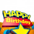 Happy Birthday star balloons vertical — Stock Photo #65899271