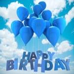 Happy birthday balloons, sky — Stock Photo #65899589