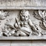 Stone Child sculptor — Stock Photo #65899737