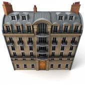 Aerial perspective of Parisian building — Stock Photo