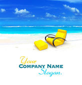 Relaxing sofa on the beach — Stock Photo
