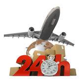 24 Hrs logistics — Stock Photo