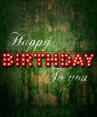Grunge Happy birthday ship — Foto de Stock