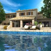Magnificent villa with pool — Stock Photo