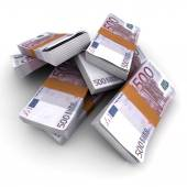500 Euros stacks  — Stock Photo