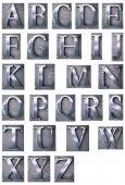 Typescript alphabet upper-case — Stock Photo