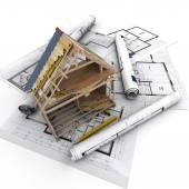 Construction technical details — Stock Photo
