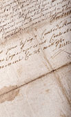 Old stained manuscript — Photo