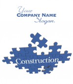 Blue Construction puzzle — Foto de Stock