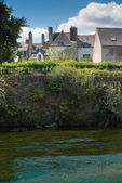 Houses by the river — ストック写真
