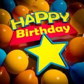 Happy Birthday star balloons — Stock fotografie