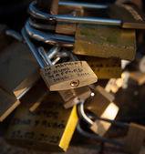 Lovers padlock d — Stock Photo