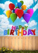 Happy Birthday, garden — Foto de Stock