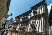 Medieval houses in a French town — Stock Photo