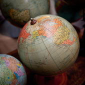 Old desktop globe collection — Stock Photo