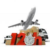 12 Hrs logistics — Stock Photo