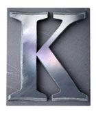 Lettre majuscule K tapuscrit — Photo