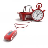 Online speed shopping — Stock Photo